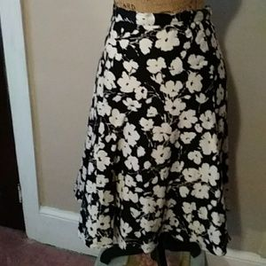American living A-line skirt size 10 classic black